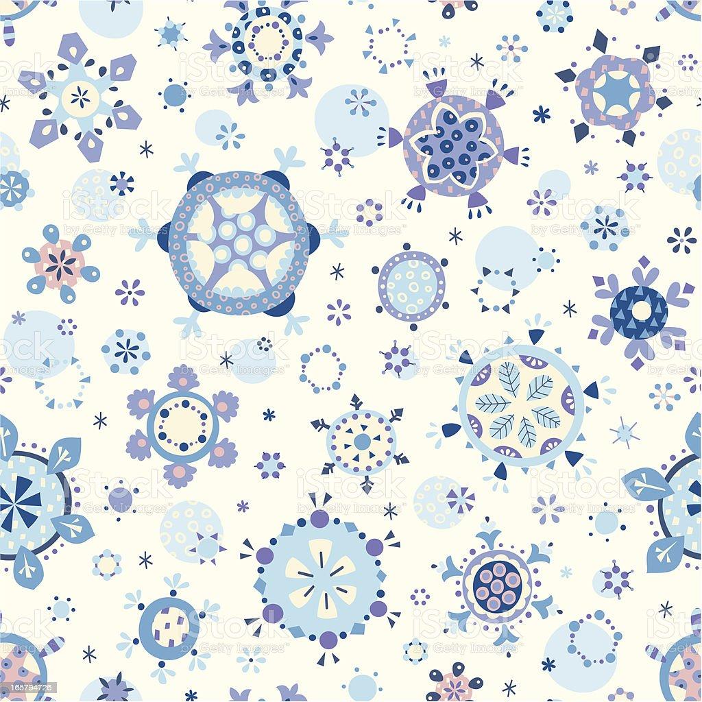 Cute Snowflakes royalty-free stock vector art