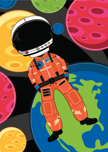 Cute Spaceman In Space