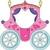 Cute Sparkly Pink Cinderella/Princess Carriage.