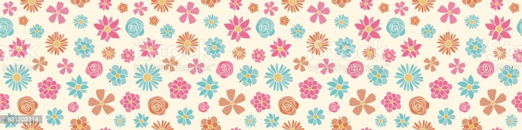 Cute spring background with hand drawn flowers wrapping paper vector cute spring background with hand drawn flowers wrapping paper vector royalty free mightylinksfo