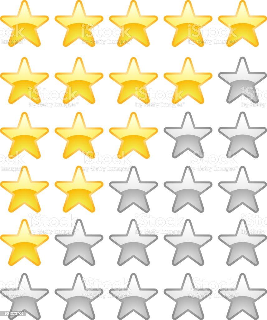 Cute star rating bar set - Royalty-free Abstract stock vector