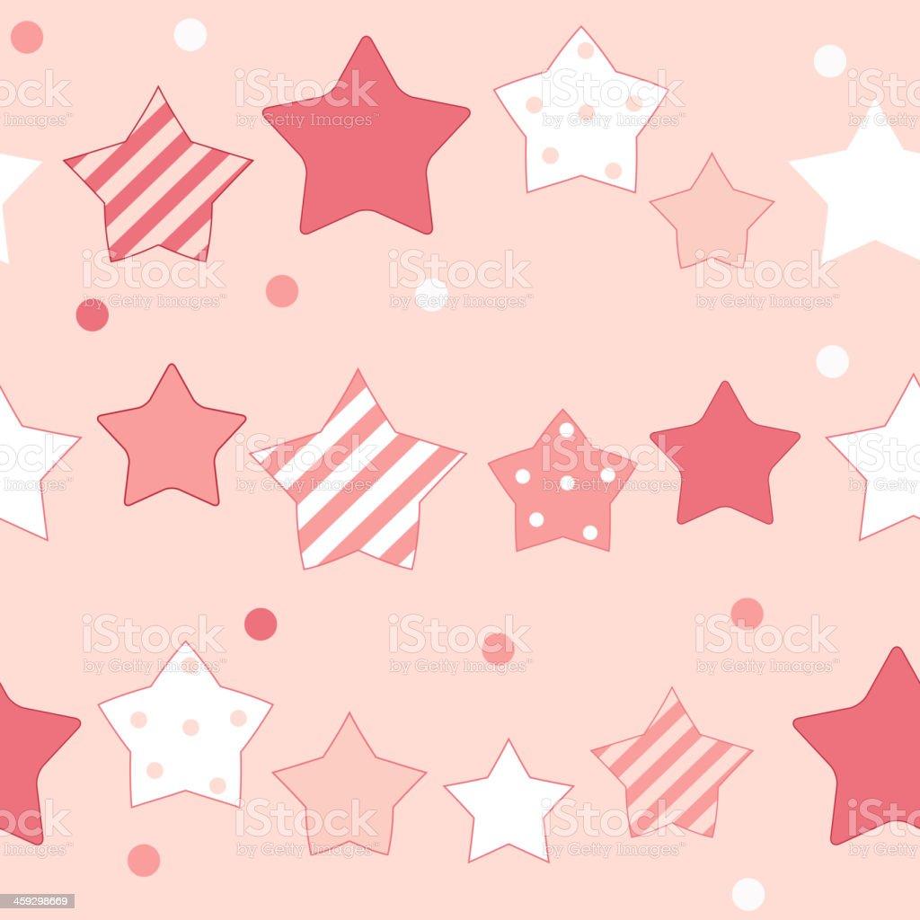 かわいい星のシームレスなパターン背景ベクトルイラスト - いたずら書き