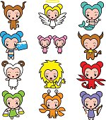 These cute Greek Zodiac star sign characters are inspired by Japanese manga and illustration. They are all here to make your world fun.