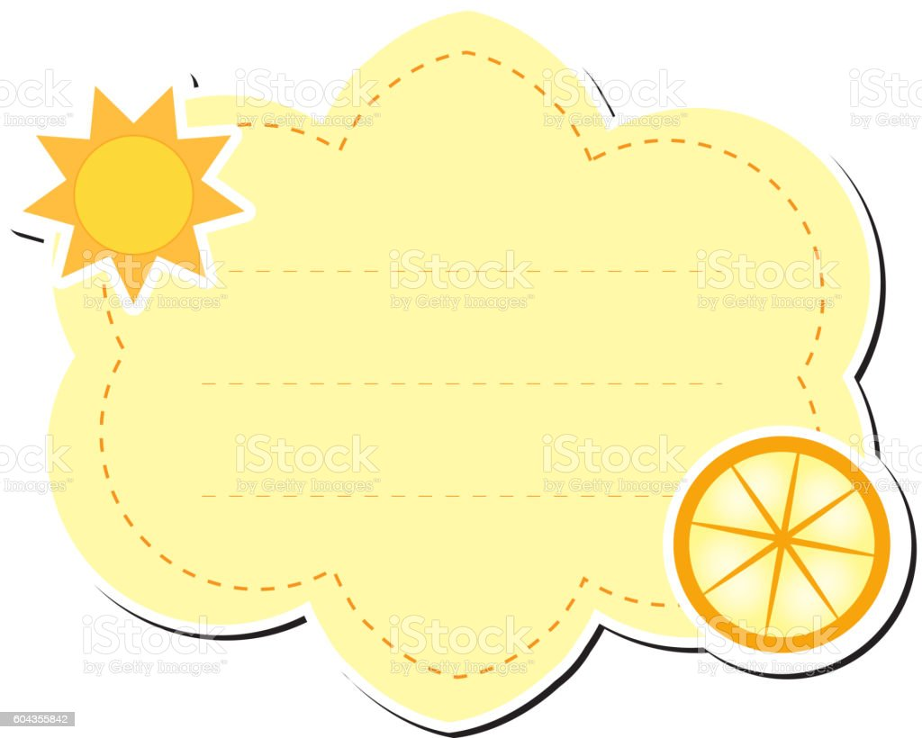 Cute Sticker Label Frame For Text Kids Tag For Text Stock Vector Art ...