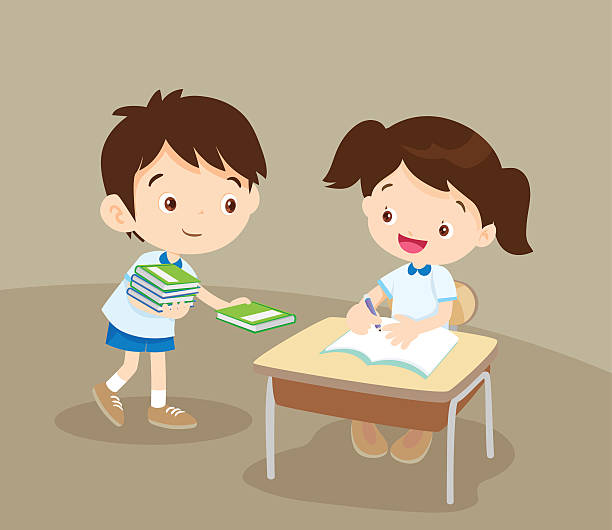 Best Children Sharing Illustrations, Royalty-Free Vector ...