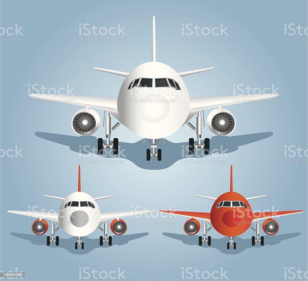 Cute Style Aircraft vector art illustration