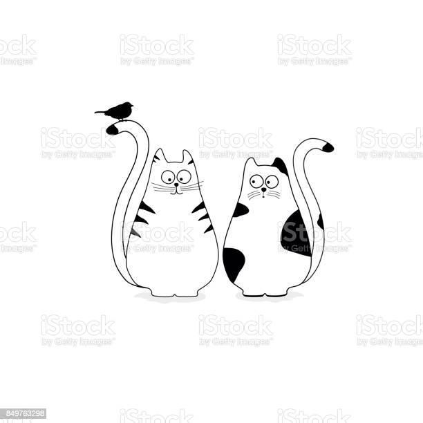 Cute stylized cats with bird vector id849763298?b=1&k=6&m=849763298&s=612x612&h=zlpyqsxkjidwgnvvbkwrgfllzu4v6s574yhd2v0cpfs=