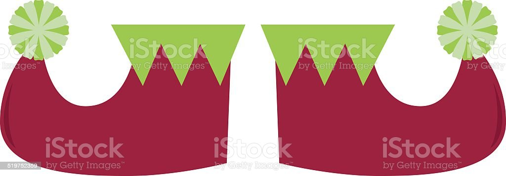 royalty free christmas shoes clip art vector images illustrations rh istockphoto com elf shoes clipart Elf Movie Clip Art