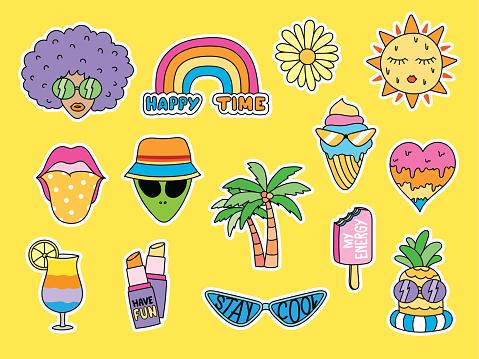 cute summer doodle.