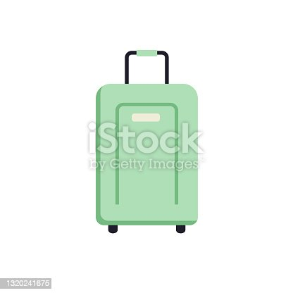 istock Cute Summer icon On A Trasparent Base - Suitcase 1320241675