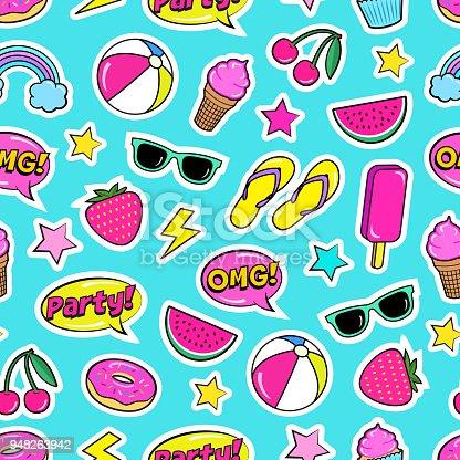 Cartoon stickers. Vector illustration