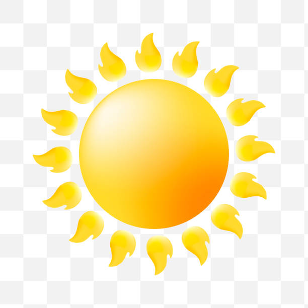 bildbanksillustrationer, clip art samt tecknat material och ikoner med söt sun ikonen på transparent bakgrund - spain solar
