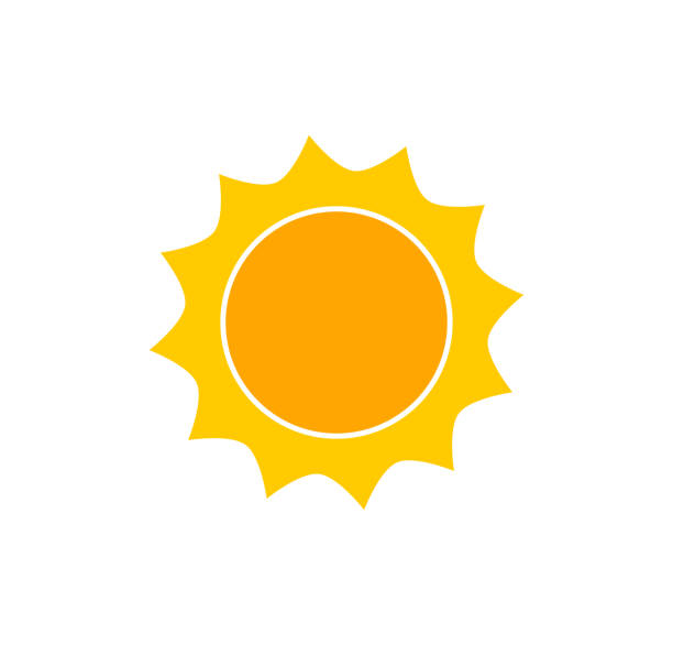 ilustrações de stock, clip art, desenhos animados e ícones de cute sun icon. - sol