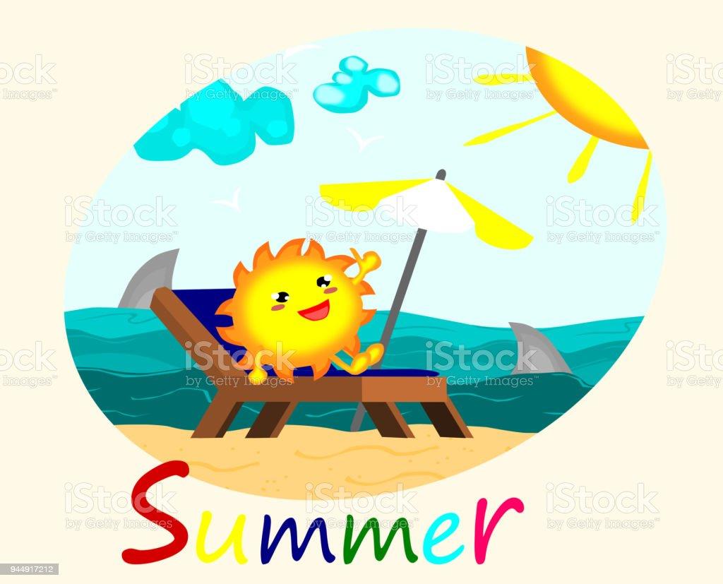 royalty free cartoon of the sand shark clip art vector images rh istockphoto com sunbathing cartoon clipart dog sunbathing clipart