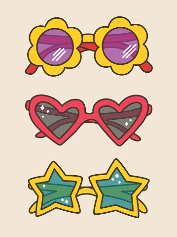 Cute Sunnies for Summer in Doodle Style