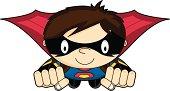 Cute Super Girl Flying