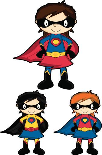 Cute Supergirl Hero Character