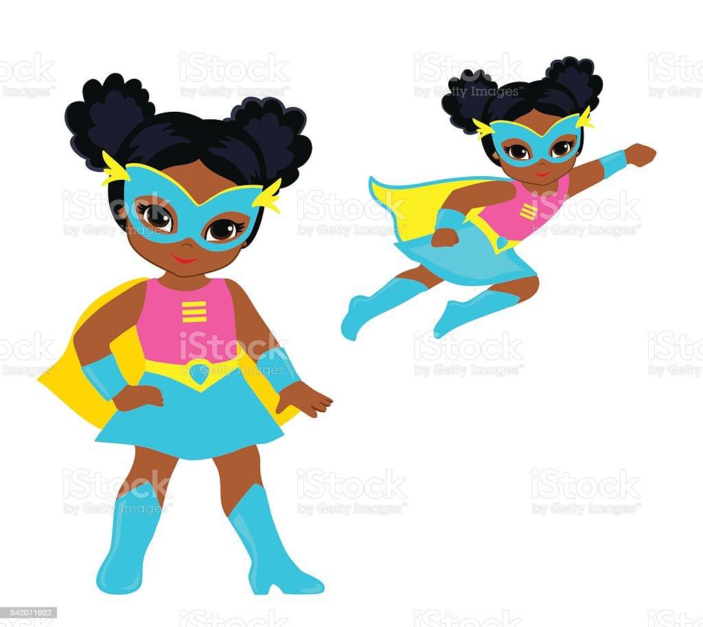 かわいい女の子のスーパーセットですベクトルクリップアート お面の