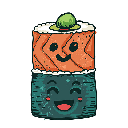 Cute Sushi Kawaii Characters
