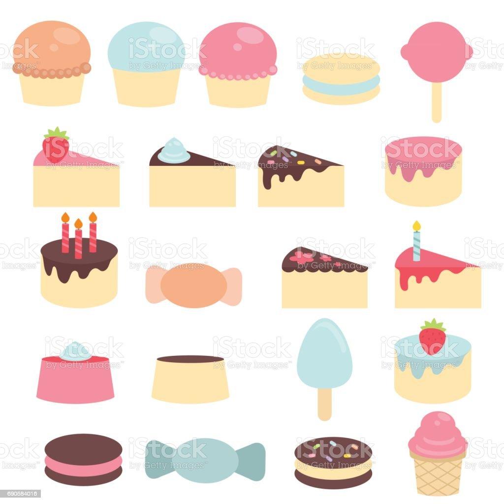 かわいいお菓子とお菓子 アメリカ合衆国のベクターアート素材や画像を多数ご用意 Istock