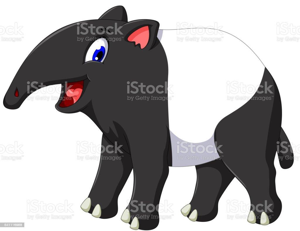 Cute Tapir Cartoon Posing Stock Illustration Download Image Now Istock