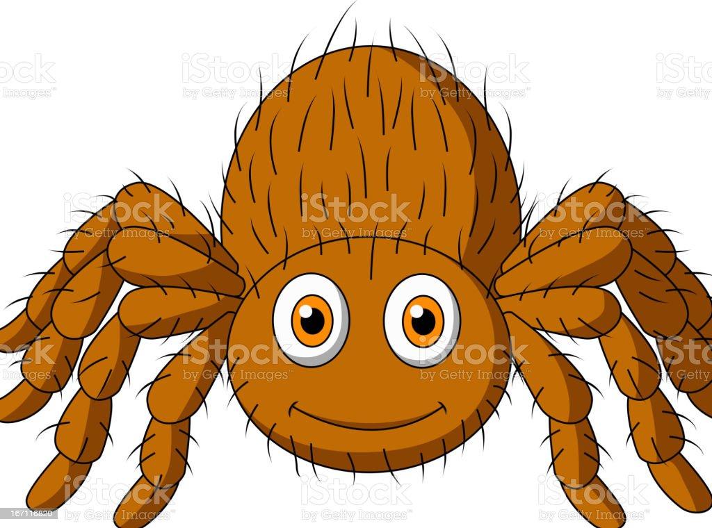 Cute tarantula spider cartoon royalty-free stock vector art