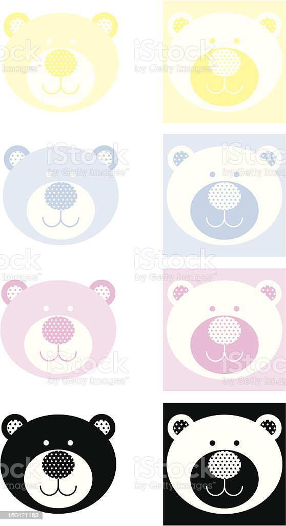 Cute Teddy Bear Icon with Polka Dots royalty-free cute teddy bear icon with polka dots stock vector art & more images of 12-17 months