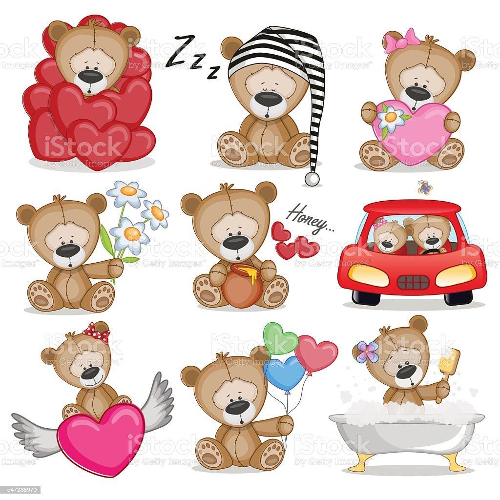 Cute Teddy Bear Stock Vector Art 547238970
