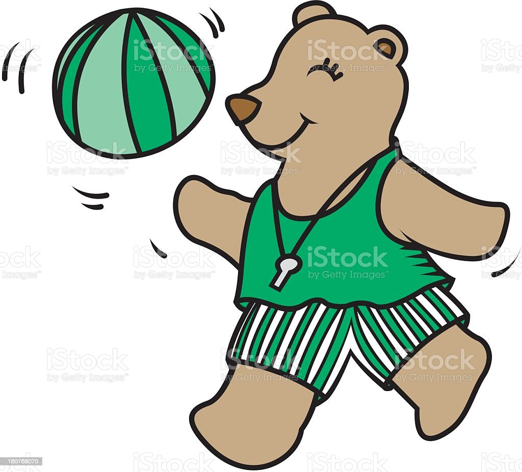 Cute Teddy Bear with Beach Ball royalty-free cute teddy bear with beach ball stock vector art & more images of beach ball