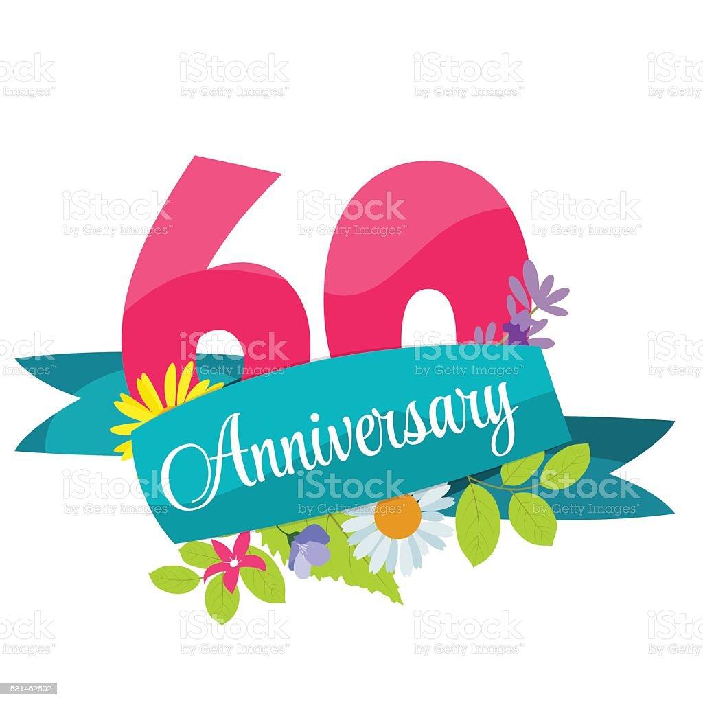 Clipart invitation anniversaire 60 ans awesome graphic library joli mod le 60 ans anniversaire signe illustration vectorielle rh istockphoto com stopboris Images