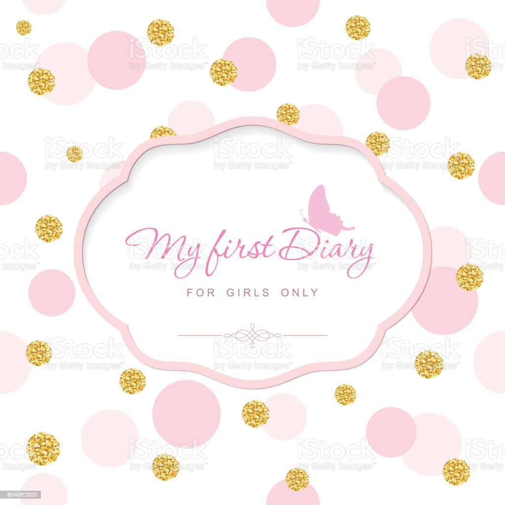 cute template for notebook cover for girls my first diary laser