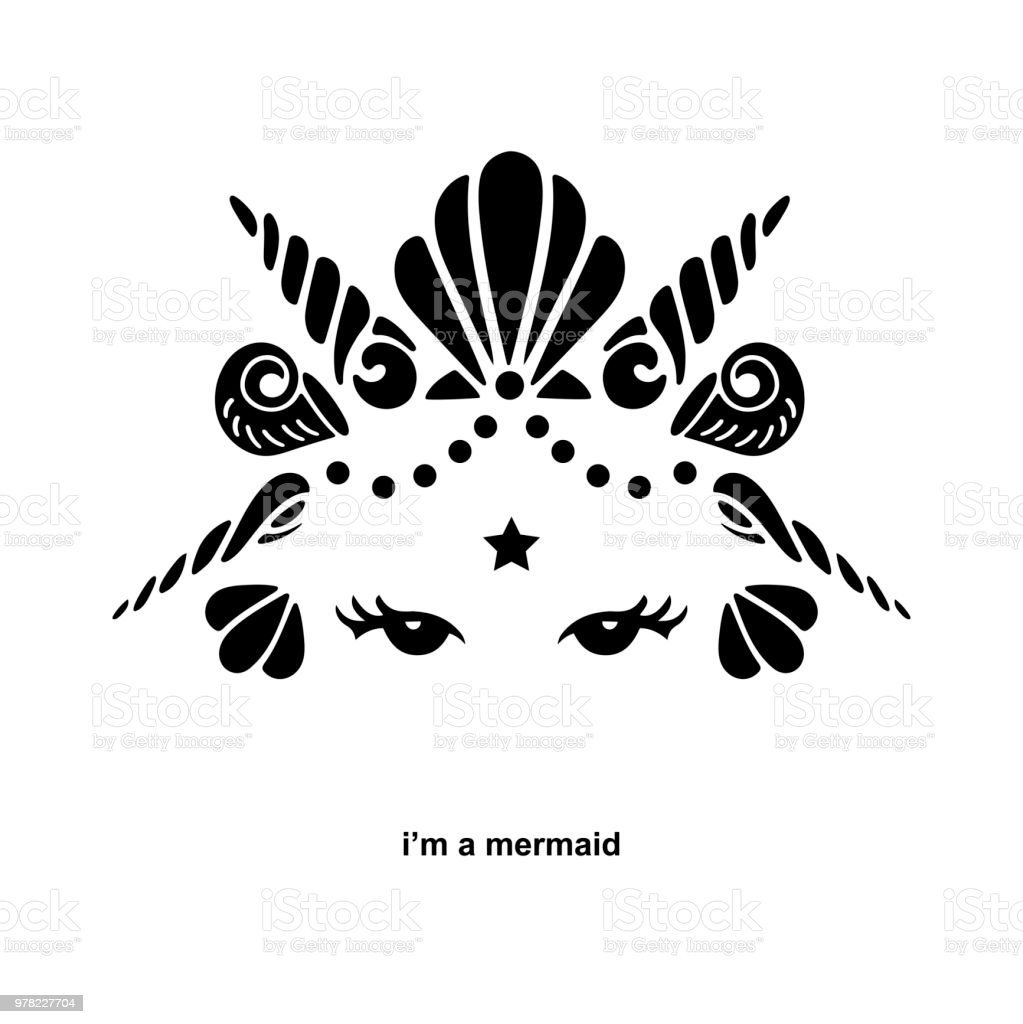 cute template with mermaid logo stock vector art more images of