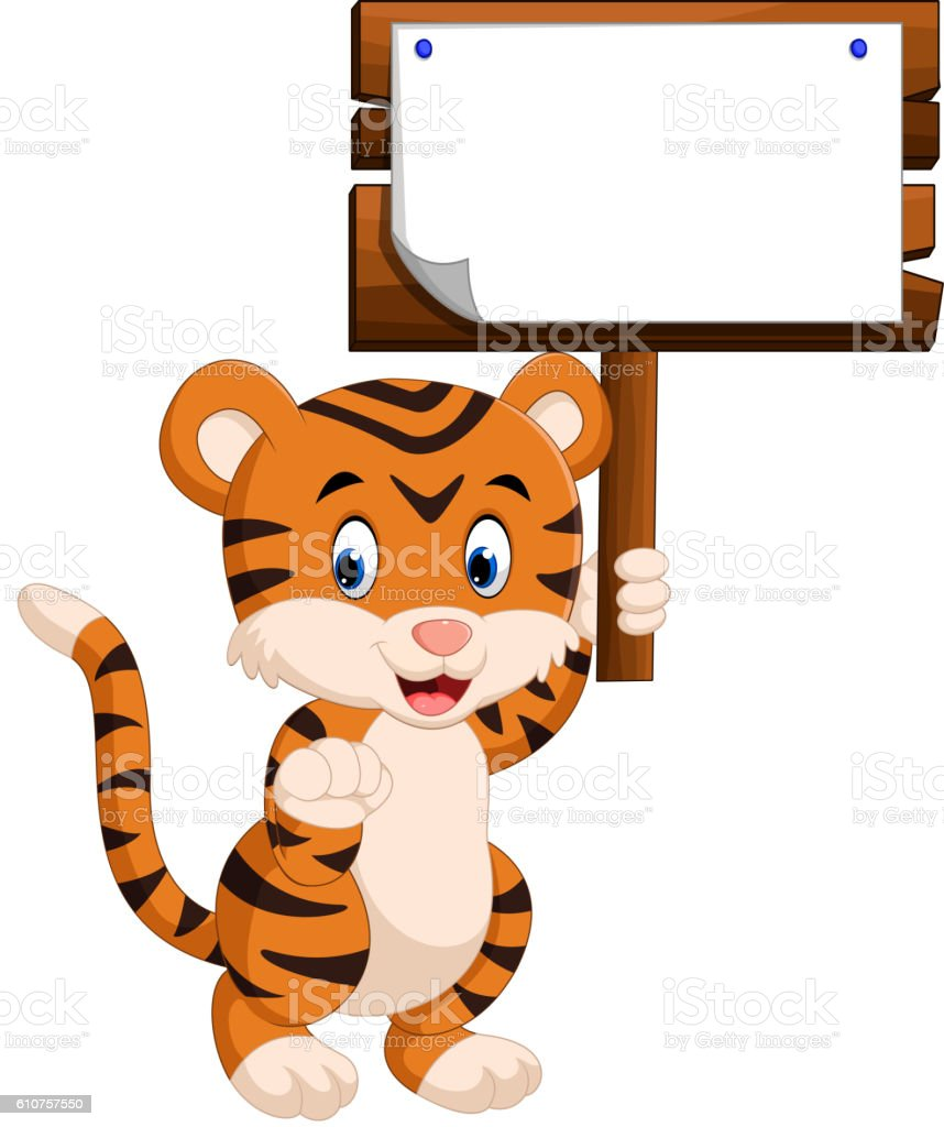 cute tiger cartoon stock vector art 610757550 istock