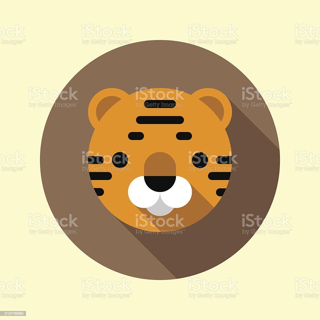 かわいい虎の子アイコンをクリックします 動物アイコンシリーズます の