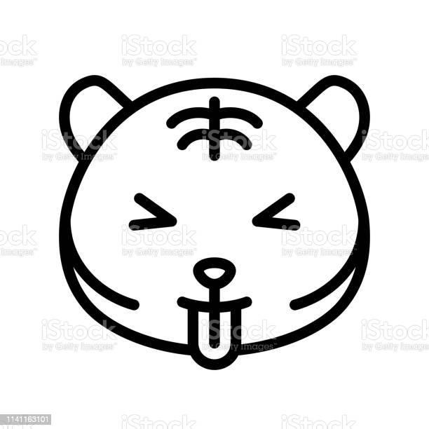 Cute tiger emoticon line style vector illustration vector id1141163101?b=1&k=6&m=1141163101&s=612x612&h=yfqr5j0qyjucann4k7fd6myifu22 ainqlxh3qqwhmc=