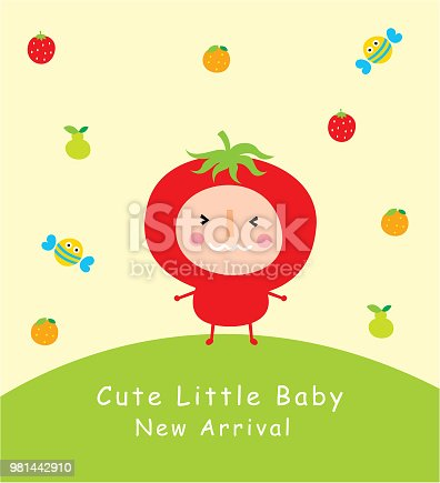 cute tomato doodle greeting card