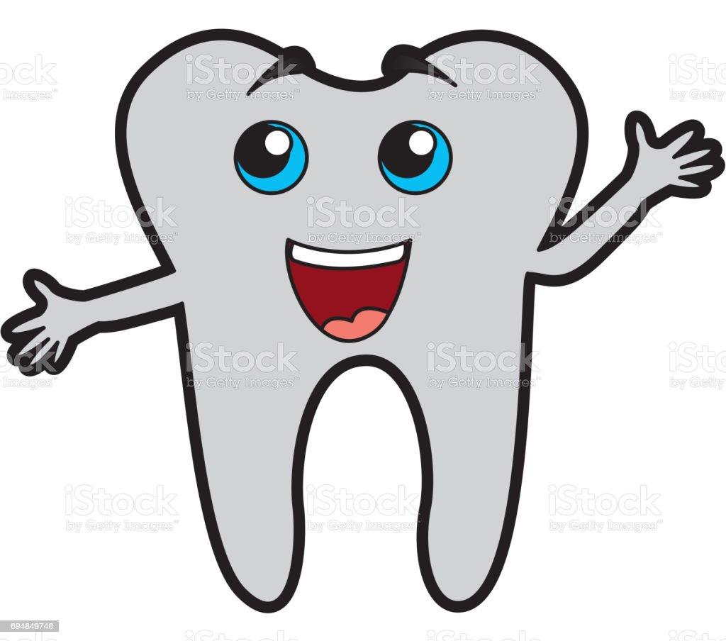 Niedliche Zahn Cartoon Stock Vektor Art und mehr Bilder von Anatomie ...
