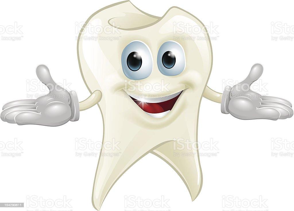 Cute tooth dental mascot royalty-free stock vector art