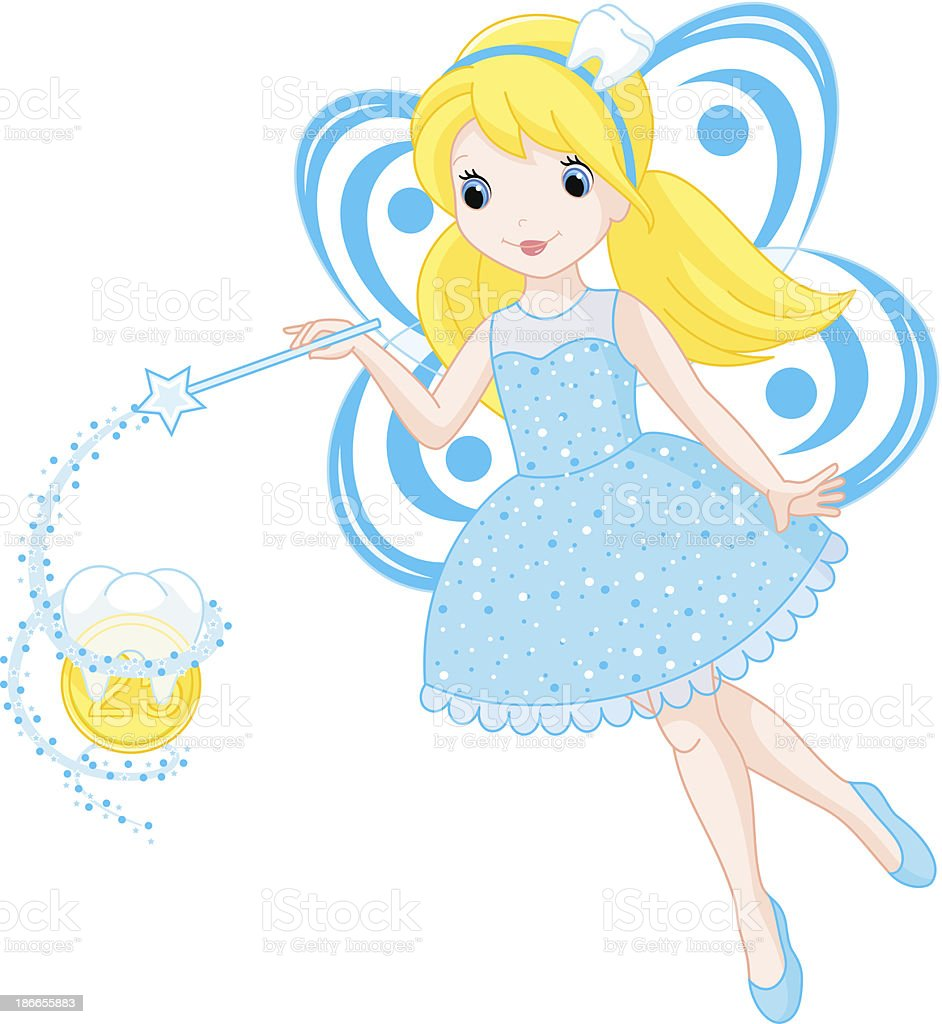 Cute Tooth Fairy royalty-free stock vector art