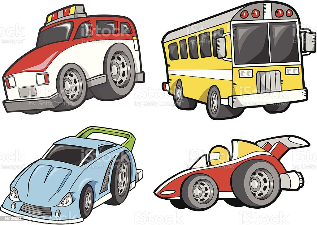 Cute Transportation Vehicle Set royalty-free cute transportation vehicle set stock vector art & more images of bus