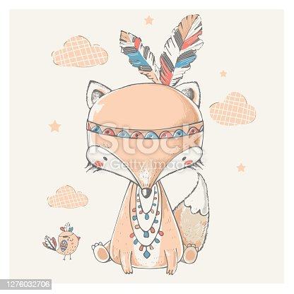 Cute tribal Fox