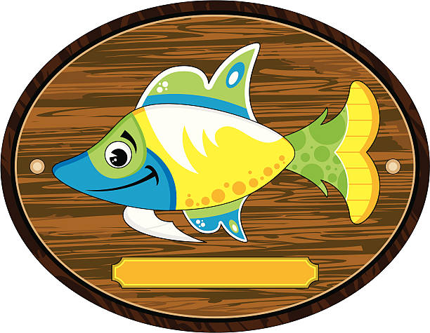 Best Mounted Fish Illustrations Royalty Free Vector