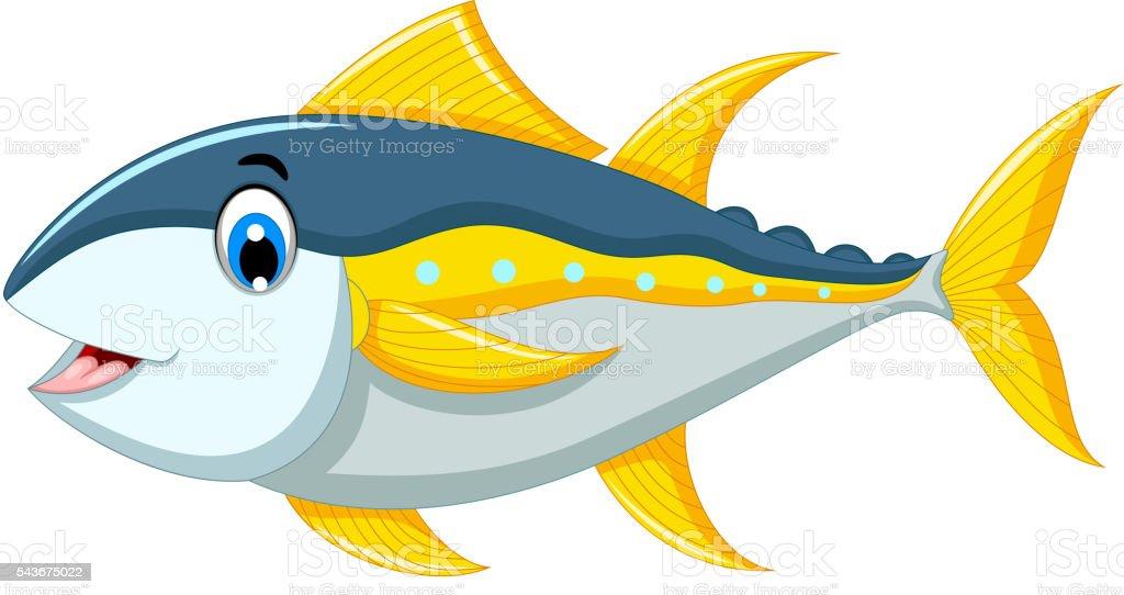 Ilustración De Atún De Peces De Dibujos Animados Lindo Y