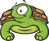 Vector Illustration of an adorable little turtle.