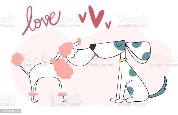 Cute two dog kissing vector id1129842799?b=1&k=6&m=1129842799&s=612x612&h=7mbwpxnwyxomrvkdaqb5toj82cw9psasfyjd6vmara4=