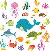 istock Cute underwater world 532789053