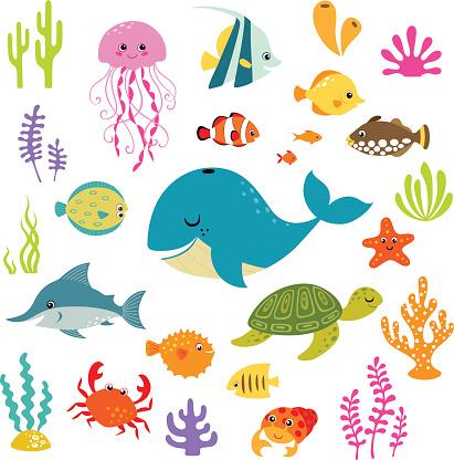 Cute underwater world