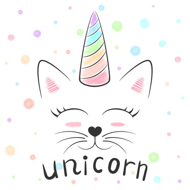 Vectores De Bebé Unicornio Para Colorear Página Y