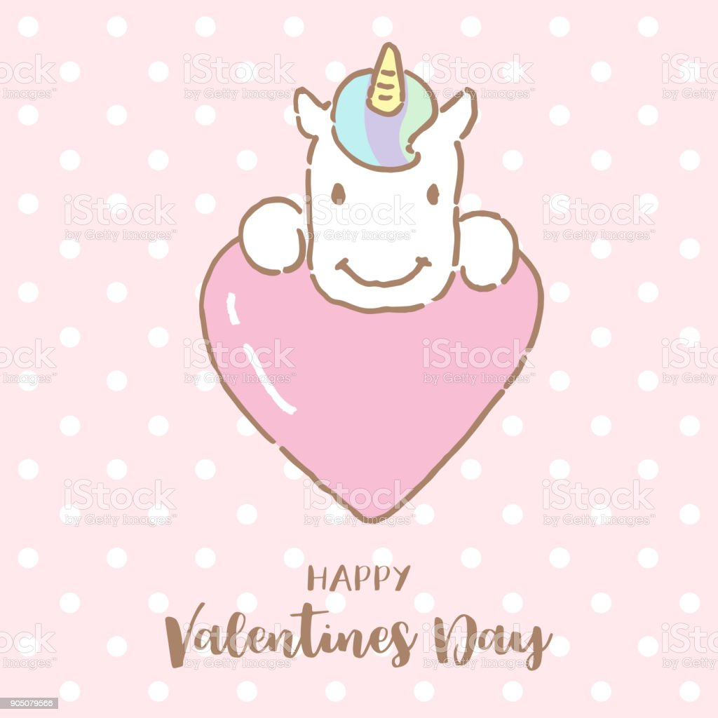 Cute unicorn hugging a big heart with text valentines day vector cute unicorn hugging a big heart with text valentines day vector illustration royalty free buycottarizona Image collections
