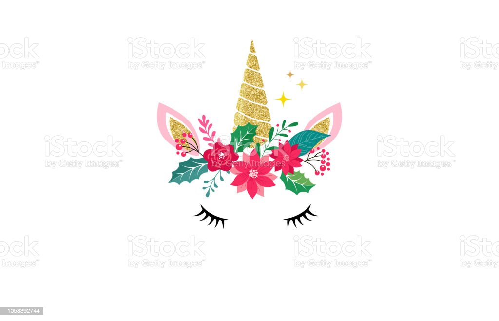Christmas Illustration.Cute Unicorn Illustration Merry Christmas Card And Shirt Design Stock Illustration Download Image Now